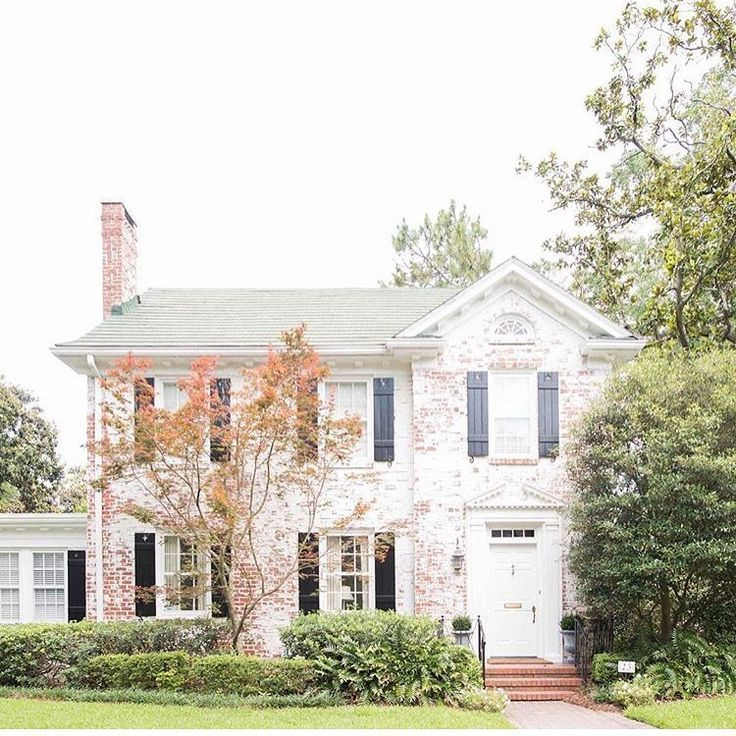 Fall Exterior White Washed Brick