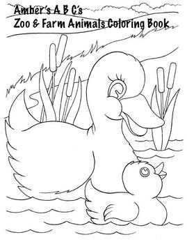 Free Farm And Zoo Baby Animals Coloring Book