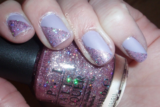 My very old swatch of OPI Teenage Dream and Zoya Marley! :-)  Still a favorite combo of mine!