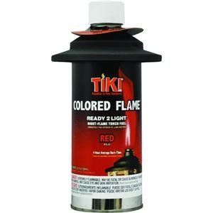 Lamplight 1209188 Tiki Colored Flame Torch Fuel by Lamplight. $8.49. Ready 2 Light. Torch Fuel. With Flameguard. 12 OZ, Red Colored Flame. PDQ Tray.. Add a touch of fun to your torches with vibrant, brightly colored flames. Tiki Colored Flame torch fuel comes in a convenient no mess, prefilled Ready 2 Light canister with a flame guard. Simply place the canister into your Tiki torch, light, and enjoy. 12 oz. Color: Red.