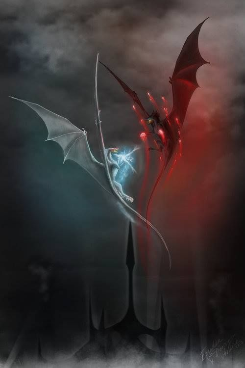 slender dragons with large wings