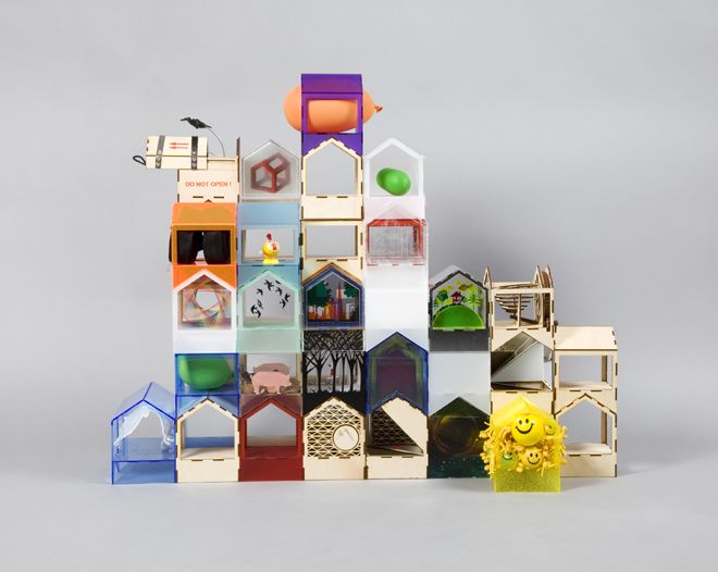 MAKE Architects' Jigsaw House is made up of 26 fully-designed houses and another 20 empty houses that can be combined. Image: Thomas Butler