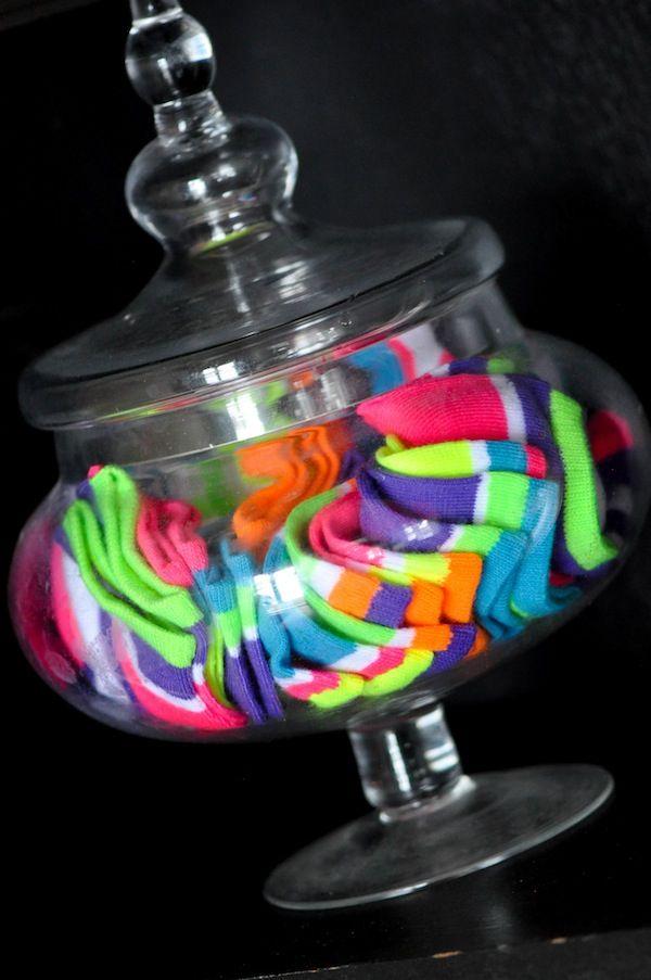 Neon sock hop - Glow in the Dark: Neon Birthday Party Ideas