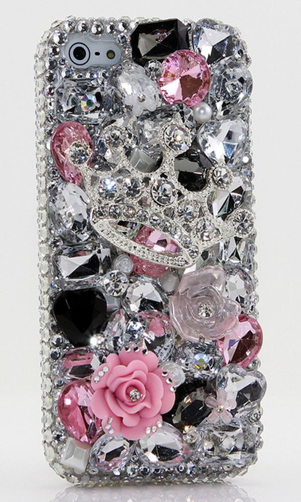 Tiaras and Trinkets Design (style 391) | iPhone Bling Cases. http://luxaddiction.com
