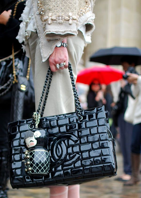 Chanel tote and doll bag.
