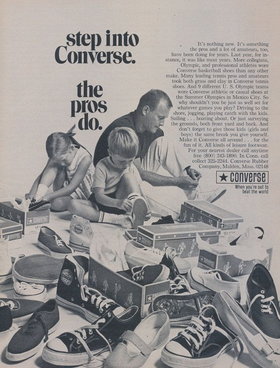 1955 Converse Basketball Shoes Ad Vintage Sneakers от AdVintageCom