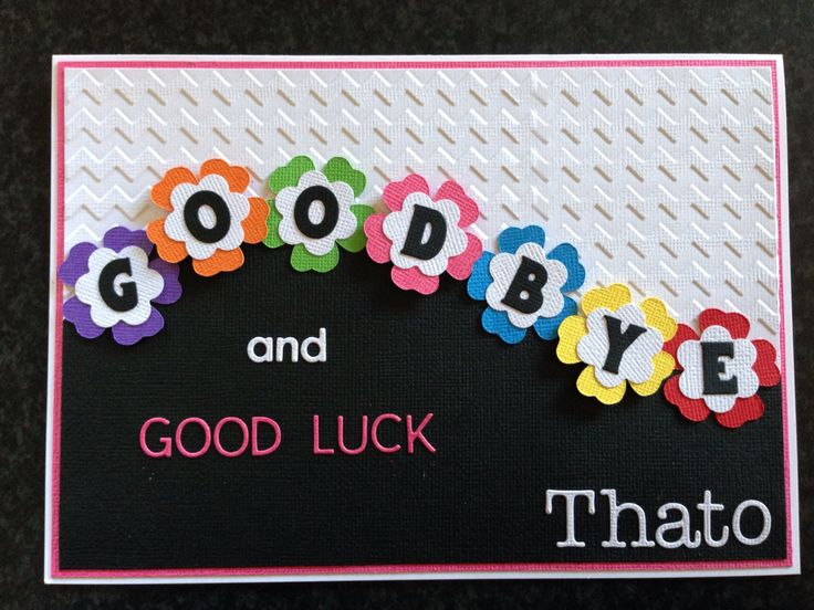 Best 25+ Goodbye And Good Luck Ideas On Pinterest | Farewell Card