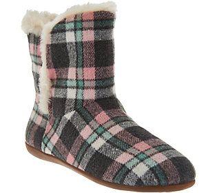 Womens Cozy Kari Slipper Bootie Pink Plaid Size 10 Vionic 8xJOQ