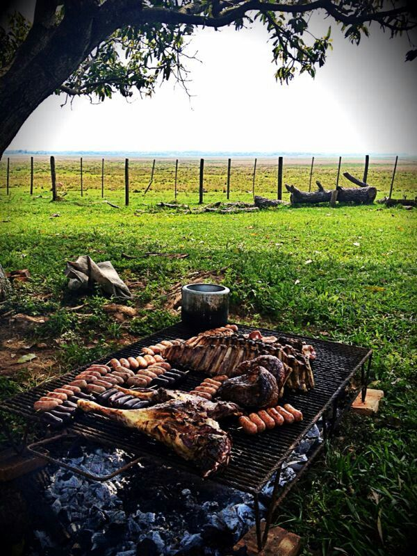 This looks like the asado we experienced out in the Argentine countryside. Fabulous malbec to go with and the best Chimichurri sauce ever!