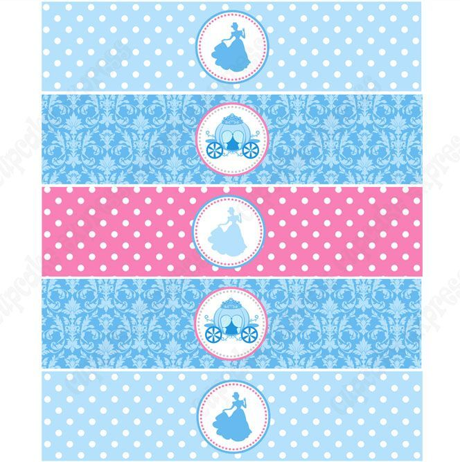 Cinderella Inspired Printable Water Bottle Labels: