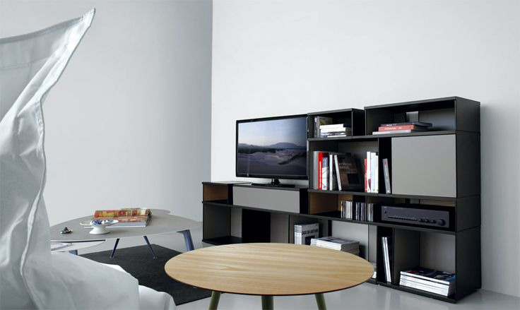 modular TV cabinet, over time, by changing the position of the modules, you can vary the total width.