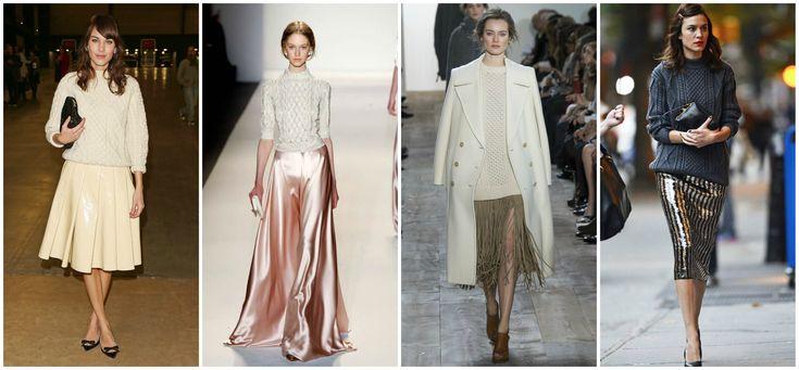 Aran Sweater with Glamorous Skirt