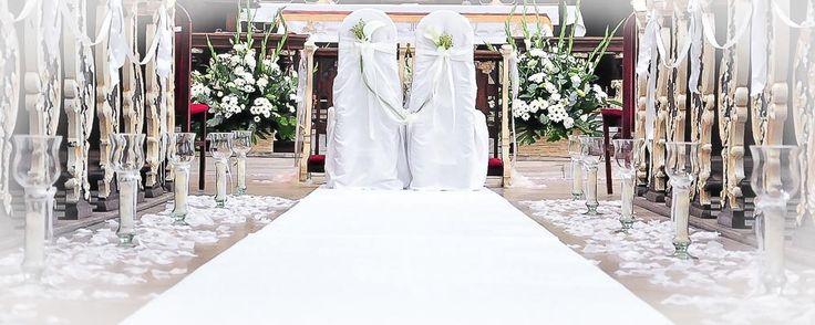 Tani biały dywan na ślub i wesele, hurt - detal
