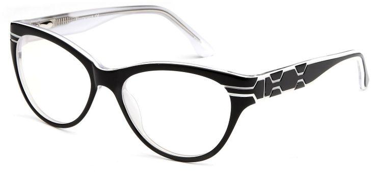 3ead24e8e5f4 www.lesbauxdeprovence.com Womens Cat Eye Prescription Glasses Fashion Frames  in Black White