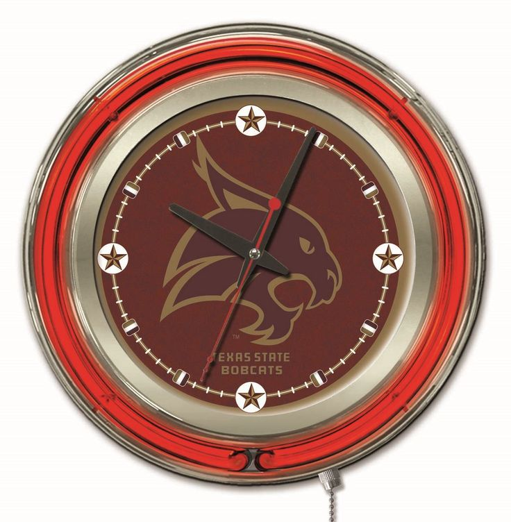 Use this Exclusive coupon code: PINFIVE to receive an additional 5% off the Texas State University 15 Inch Neon Logo Clock at SportsFansPlus.com