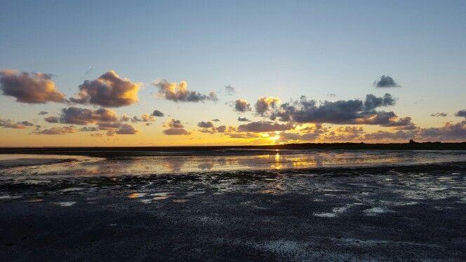 Zonsondergang bij Marina aan 't wad #Schiermonnikoog
