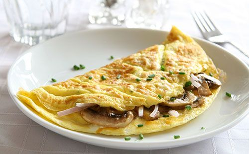Omelette aux champignons - WeCook