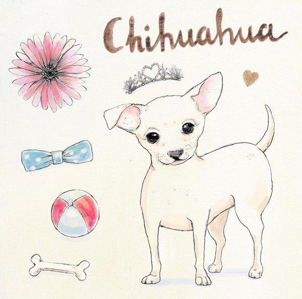 """Chihuahua Escapades"" dog-themed original artwork by Kerri Elliott via www.artinmotion.com"