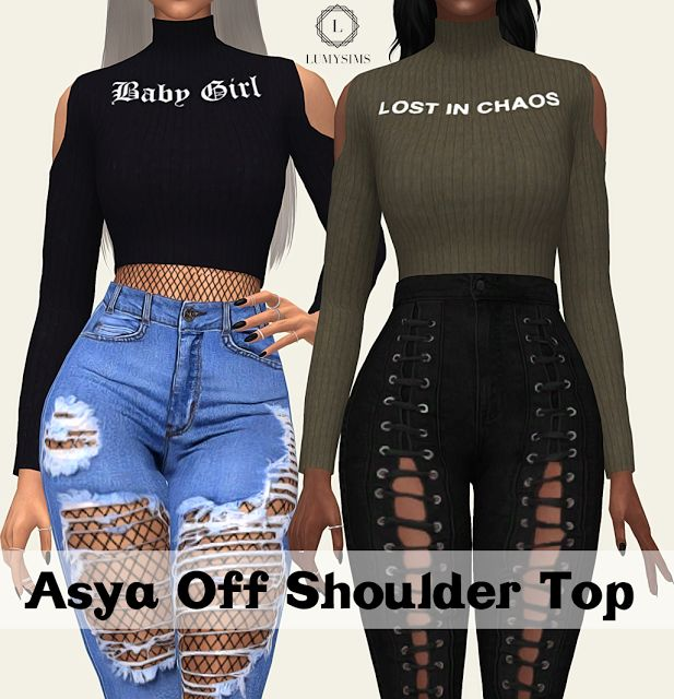 Sims 4 CC's - The Best: ASYA OFF SHOULD TOP by Lumy Sims