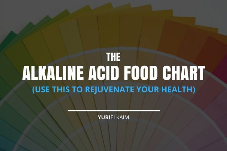 Do you know which foods are acidic and which are alkaline? Here's a handy chart to rejuvenate your health with the alkaline diet. | Yuri Elkaim