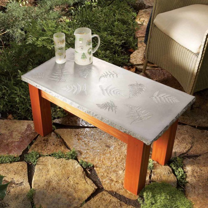 40 Outdoor Woodworking Projects For Beginners Meubles En Beton Projets Concrets Table Beton