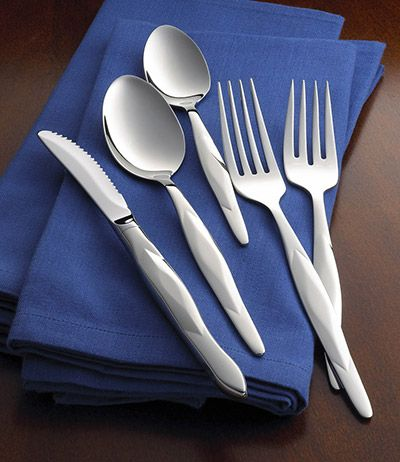 5-Pc. Stainless Place Setting with Stainless Table Knife