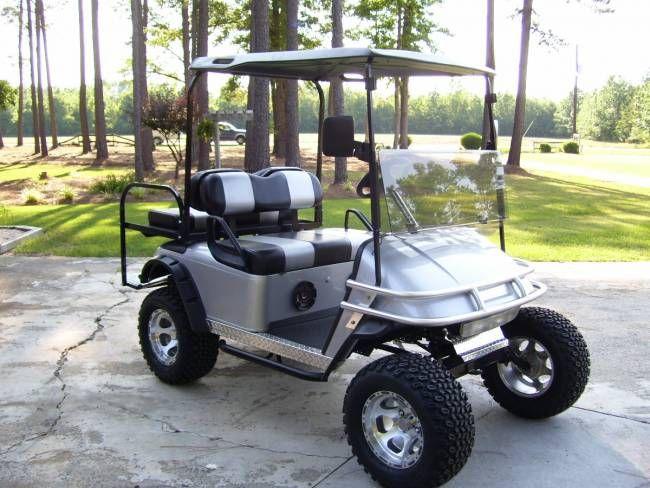 Custom Black EZ Go Golf Cart