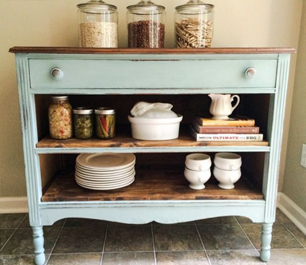 Dresser makeover - this would be perfect to convert old dresser into coffee bar buffet for next to the microwave. Top with white orchid. Hang oak mirror vertically above.