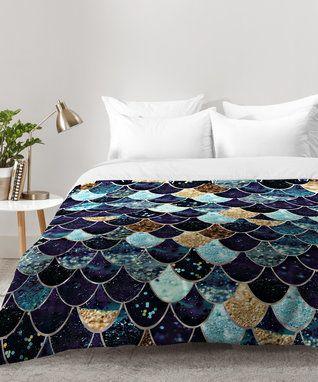 Monika Strigel Really Mermaid Mystic Blue Comforter