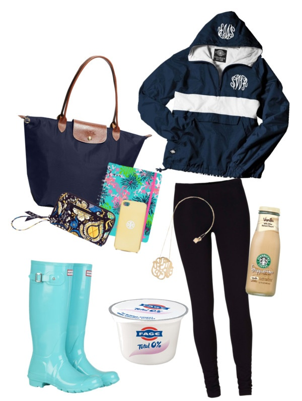"""""""Rainy Class Ootd"""" by virginiaprep ❤ liked on Polyvore"""