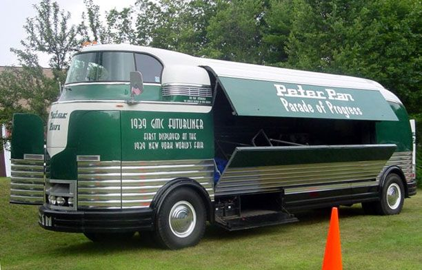 The Futurliner owned by the Peter Pan Bus Company.... no, you may not ride on it.......
