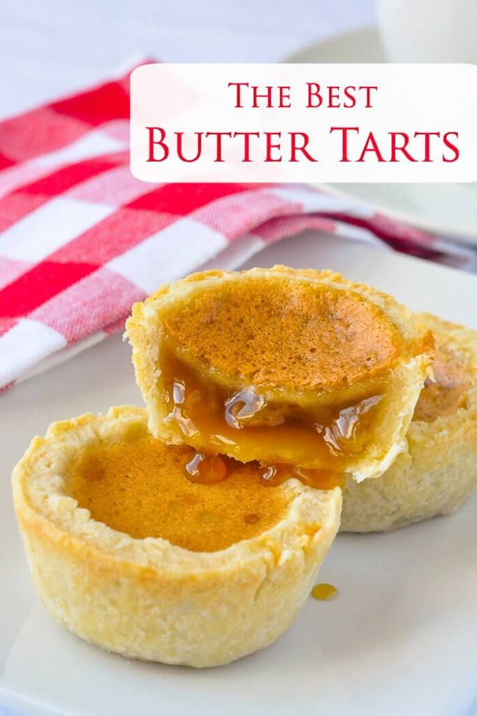 The Best Canadian Butter Tarts image with text