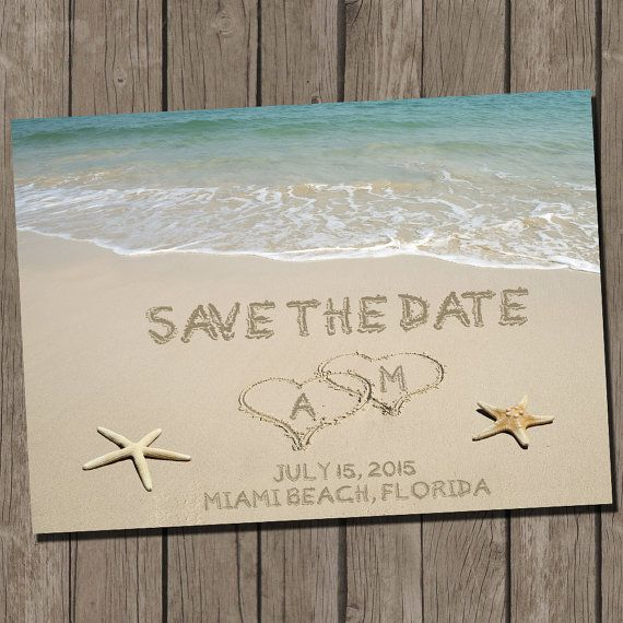 28 best wedding dusty blue and rose images on pinterest wedding beach wedding save the date beach wedding save the date postcard diy printable invitation solutioingenieria Choice Image