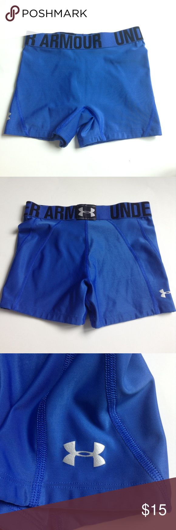 Under Armour compression shorts women's XS This is a pair of  purple and black like new under Armour compression shorts in a women's XS. They are free from any stains rips or tears, and come from a smoke free home. They are great for any kind of workout a