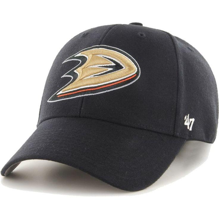 '47 Men's Anaheim Ducks MVP Black Structured Adjustable Hat