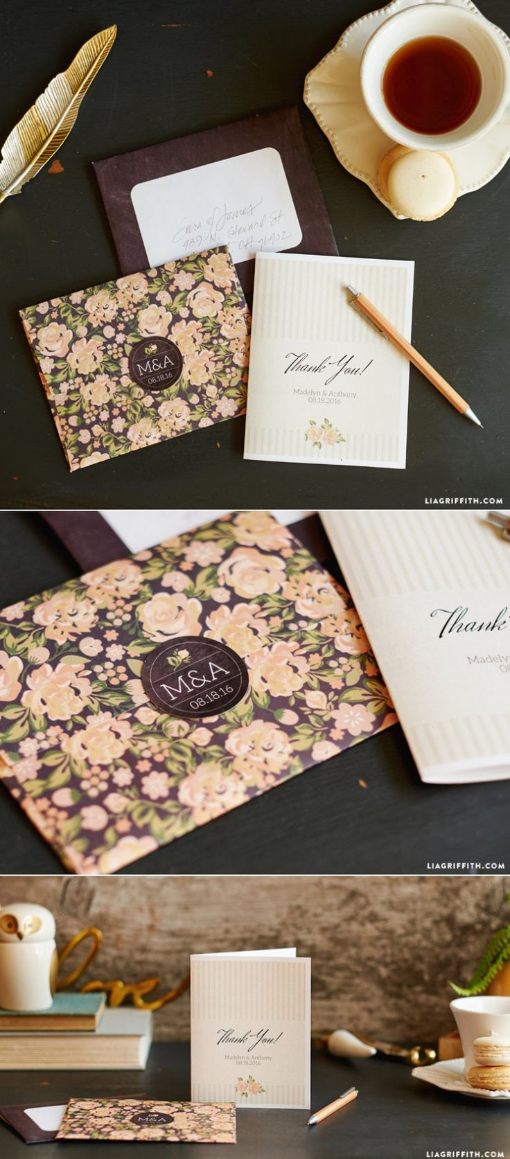 how to make wedding invitation card in microsoft word007%0A Vintage Wedding Thank You Cards