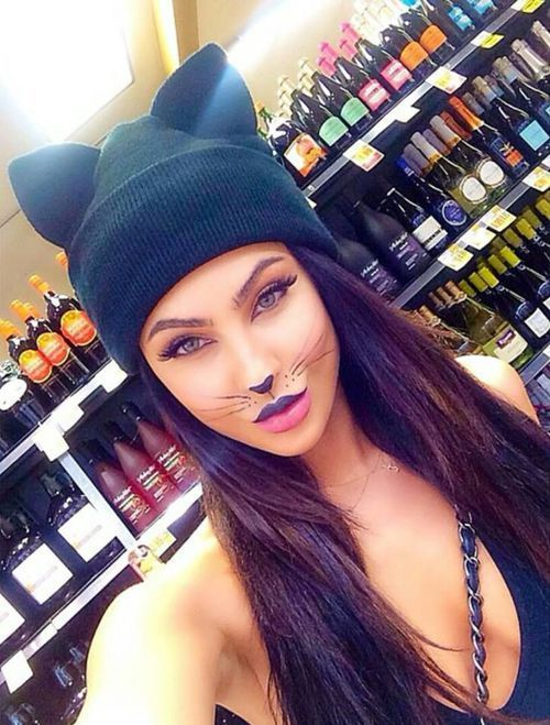 Cutest Halloween cat makeup ever.: Sexy Halloween Cat Costume, Kitty Cat…
