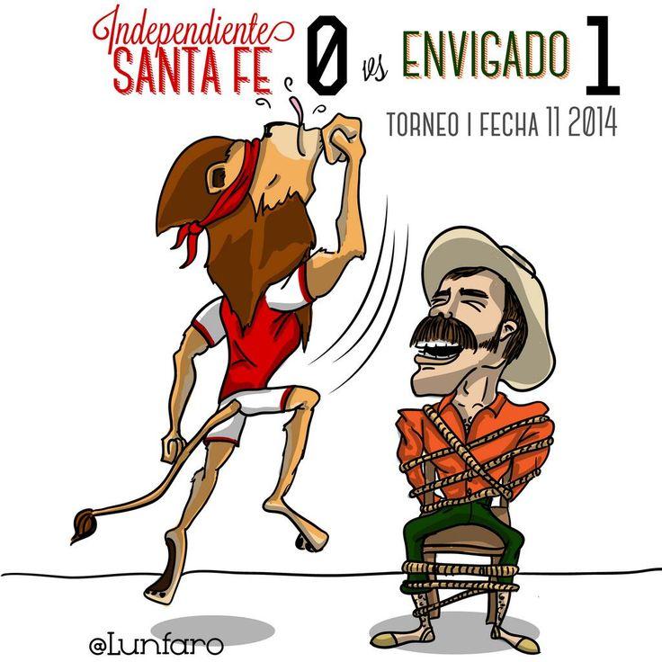 FPC Fecha 11! @IndSantaFeCO 0 - @Envigado Futbol Club 1 !! #LeónToons  @Don Lunfaro