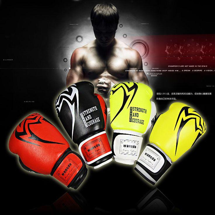 2017 Muay Thai Boxing Gloves Sanda Kungfu Wushu Women Men Fighting Sandbag Training luvas boxeo Guantes