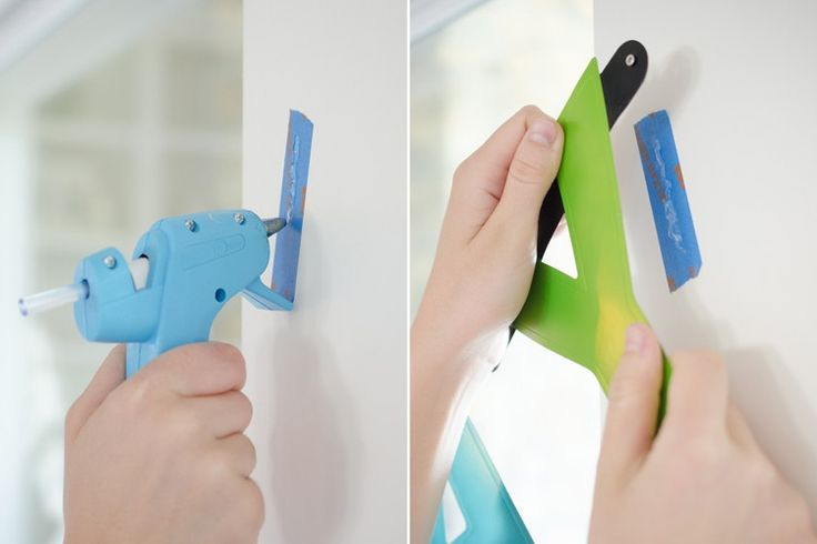 Use painter's tape and hot glue to hang cards and decorations without damaging the wall.