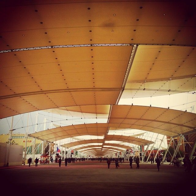 Under the main canopy of the Milano Pavilion Expo 2015