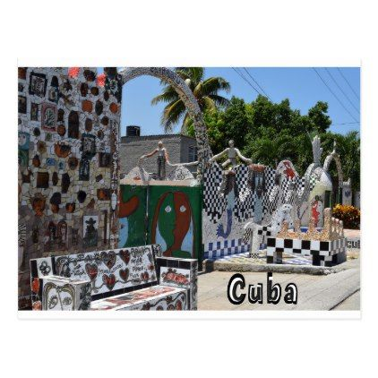 Fusterlandia Havana Cuba Art Postcard - postcard post card postcards unique diy cyo customize personalize