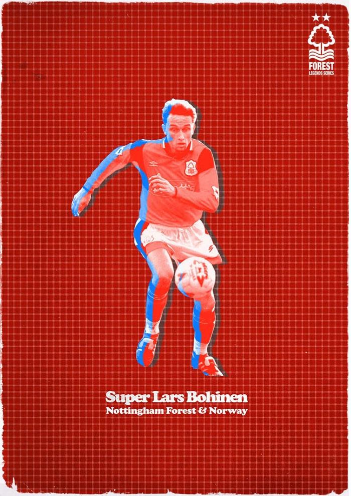Nottingham Forest Legends Series Lars Bohinen