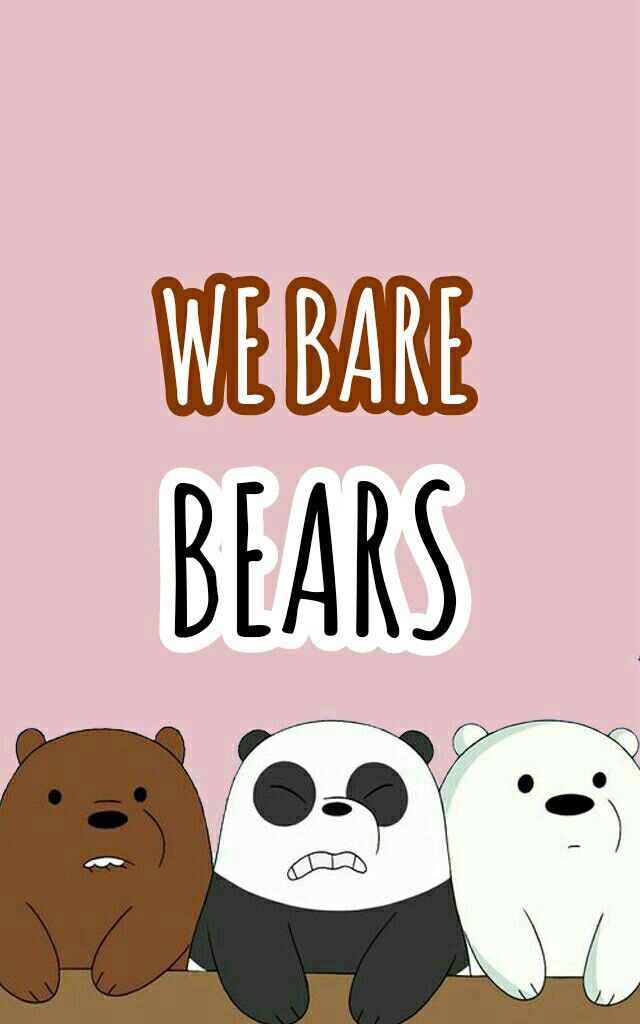 We Bare Bears Lukisan Disney Kartun Boneka Hewan