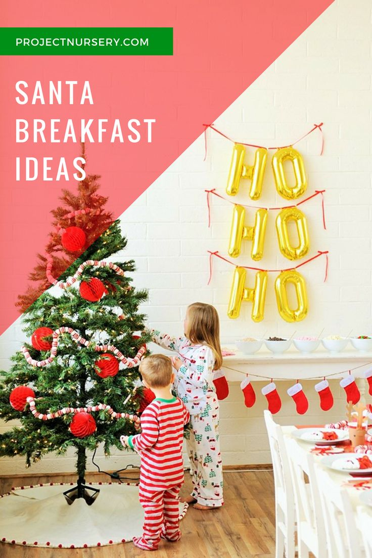 Christmas party decoration ideas kids - How To Host A Santa Breakfast Kids Christmas Pajamaskids Christmas Partieschristmas