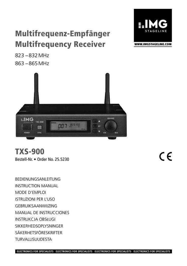 Txs 900 manuale utente