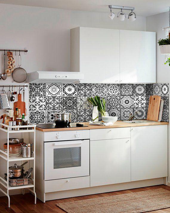sticker set, mexican tile, tile stickers, decorative tiles, vinyl