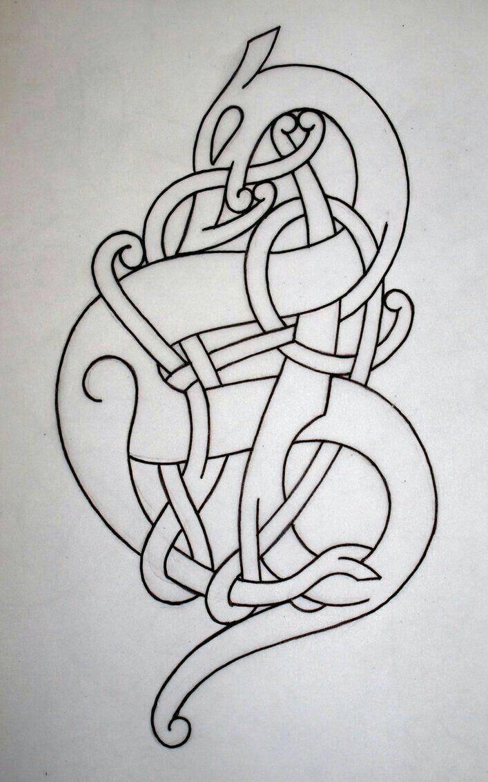 Owl greeting card set welsh artist jen delyth celtic art studio - Viking Urnes Style By Darksuntattoo On Deviantart Mehr