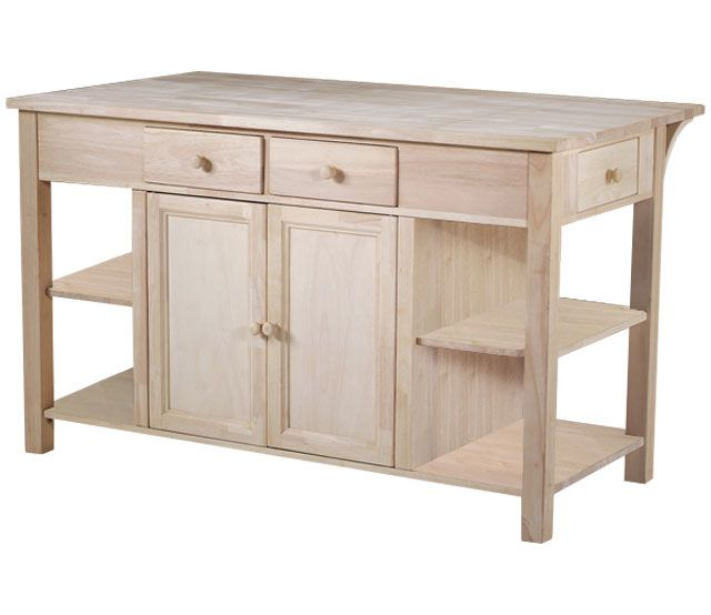 $499 Mills Stores Unfinihed Kitchen Island, Bfast Bar Item