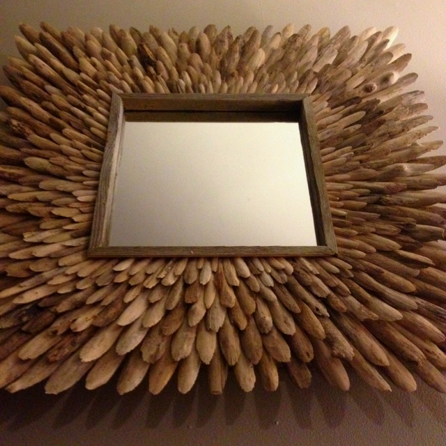 """""""Driftwood Mirror, Icarus"""" by Ben Forgey - could be a fun DIY"""